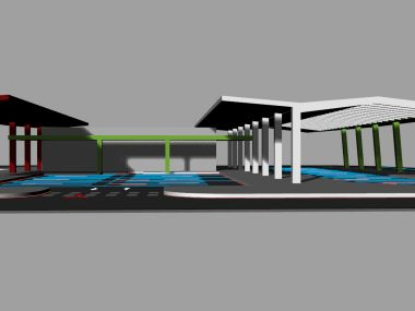 Structural design of bus terminal shelters - competition