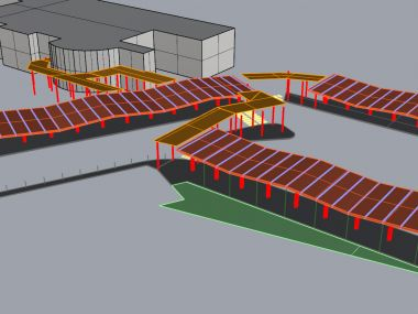 Structural design of Bus terminal shelters